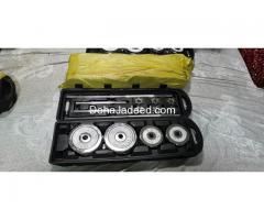 50 kg chrome barbell and dumbell set