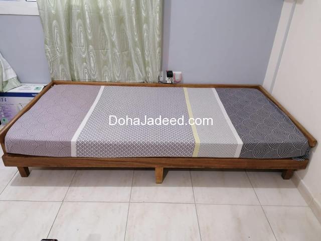 Strong Wood Deewam/Bed along with Mattress