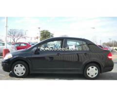 Black Nissan Tiida 2010