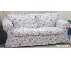 Original IKEA - EKTORP Series Floral Designer 2 Seater Sofa